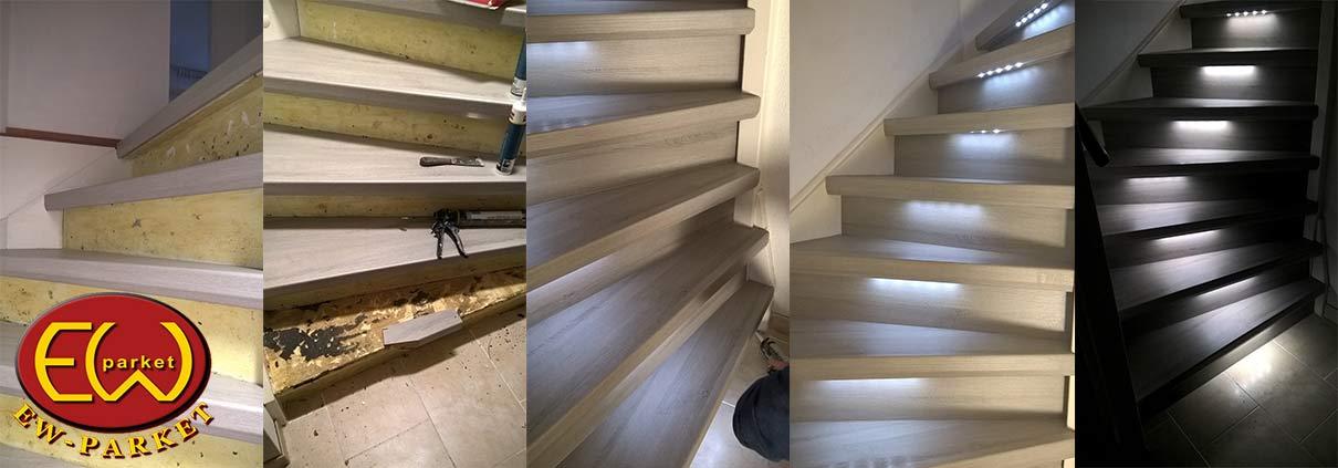 Traprenovatie trap bekleden trap bekleden met parket/laminaat