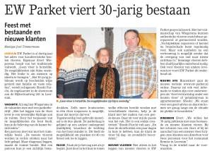 22/1/2015 EW-Parket-viert 30 jarig bestaan Leersum